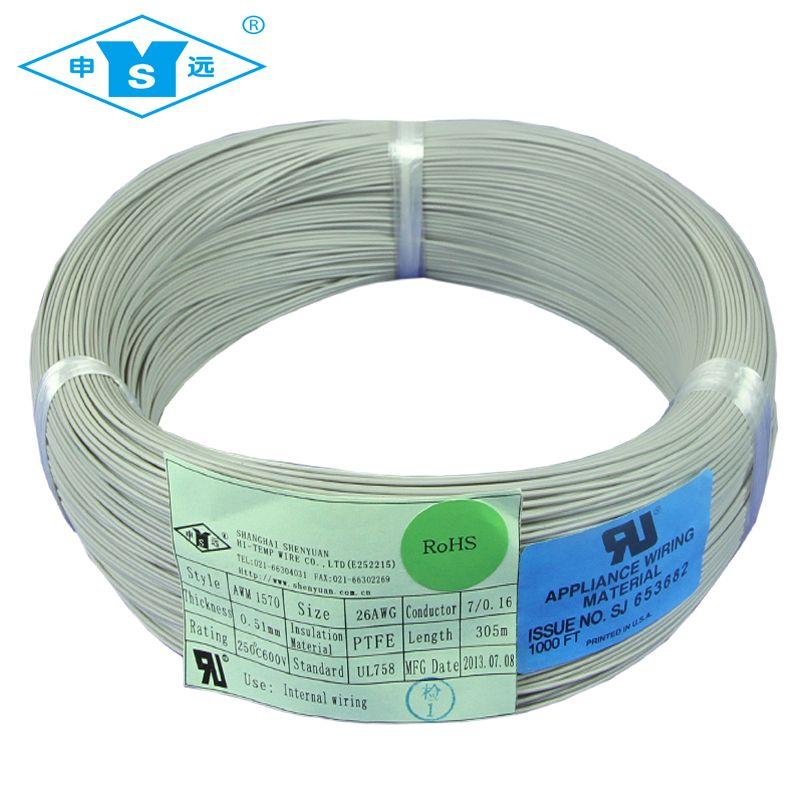 ul1570 high temperature resistance PTFE Insulated Copper Wire ...