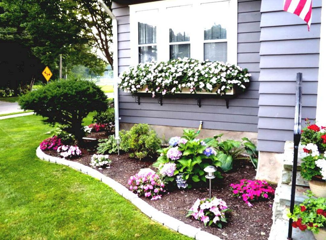 best 25 easy flower bed ideas to make front yard more on beautiful front yard rock n flowers garden landscaping ideas how to create it id=61571