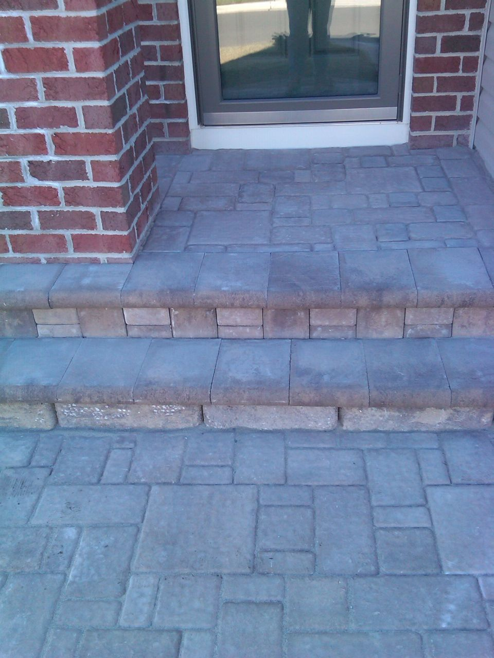We can veneer your front concrete stoop with pavers. It\'s less ...