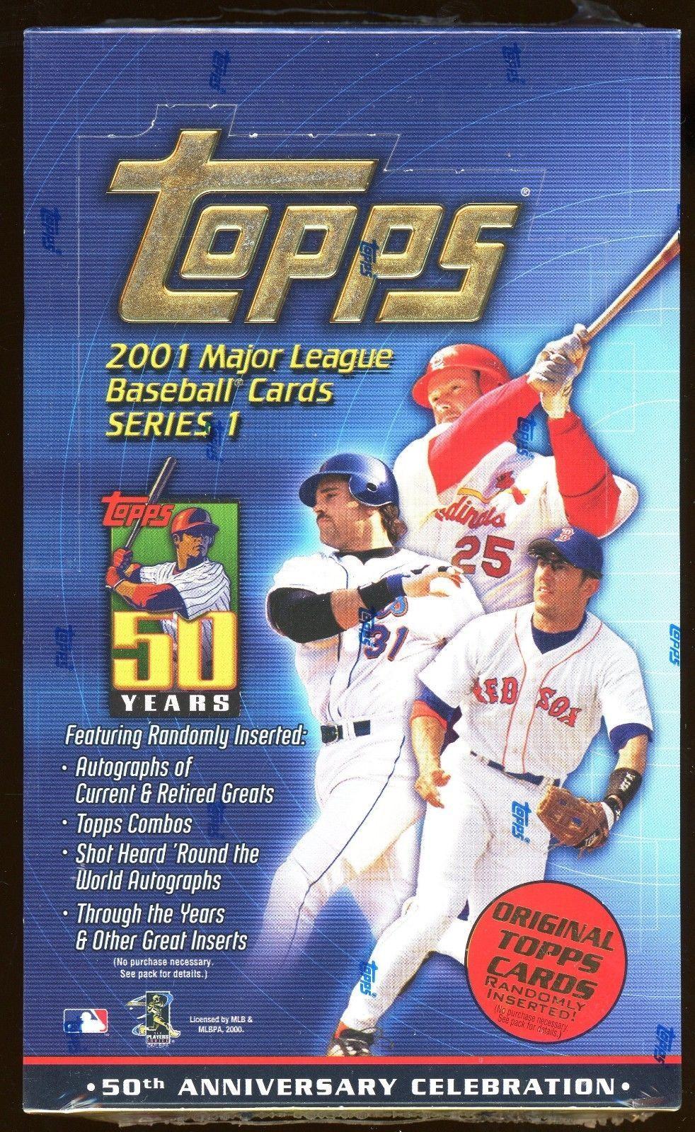 2001 Topps Series 1 Baseball Unopened Factory Sealed Hobby