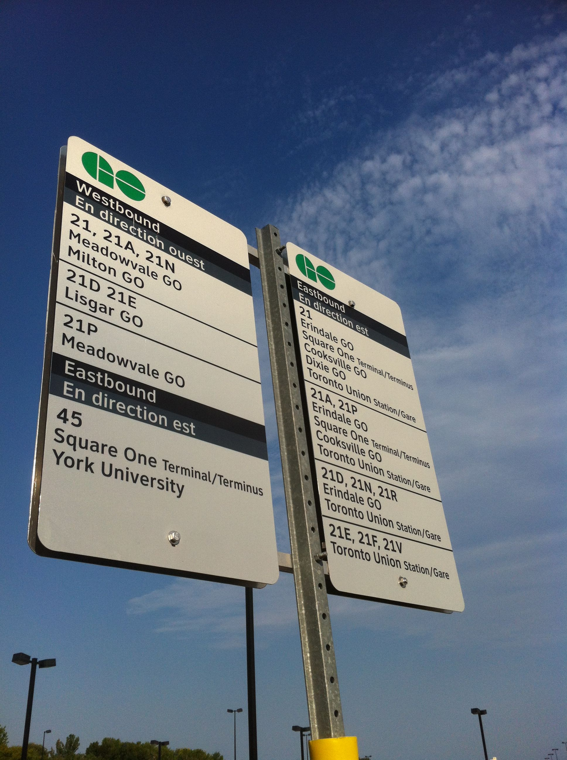 Waiting for my bus at Streetsville.
