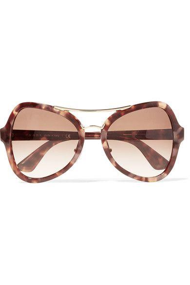 PRADA Butterfly-frame acetate and gold-tone sunglasses.  prada  lunettes de  soleil 3b2647695ec2