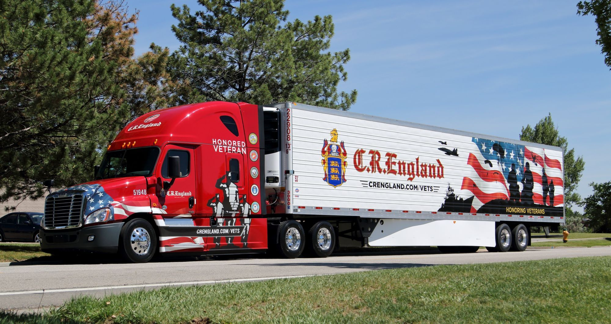 images of cr-england semi trucks