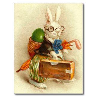 Victorian Rabbit Postkarten Victorian Rabbit Ansichtskarten