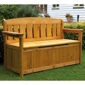 Fabulous Wooden Storage Bench I Like How Theres A Space Cut Out So Short Links Chair Design For Home Short Linksinfo