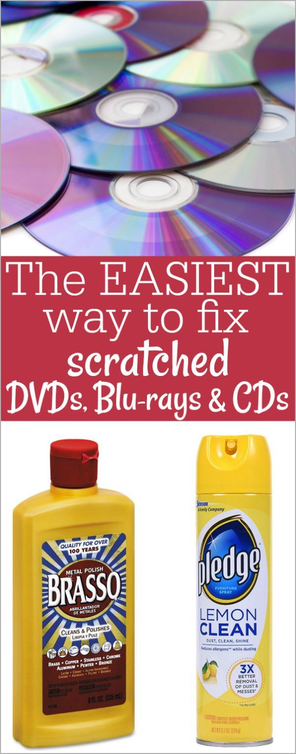 the best and easiest way to fix scratched cds and dvds cleaning organization pinterest. Black Bedroom Furniture Sets. Home Design Ideas