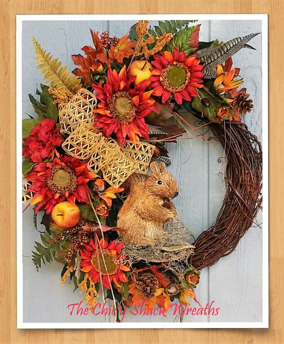 Check out this item in my Etsy shop https://www.etsy.com/listing/243377072/fall-wreath-grapevine-wreath