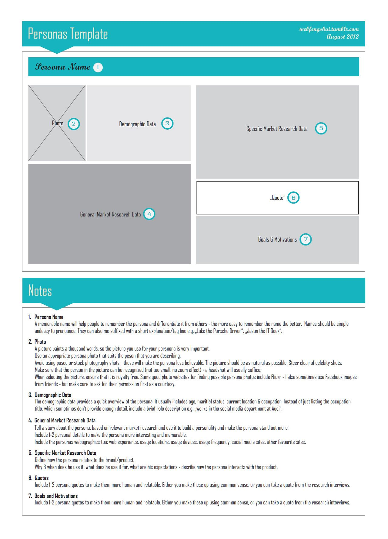 "Persona Template"" for future cases. 