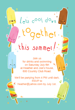 popsicle party printable summer party invitation template
