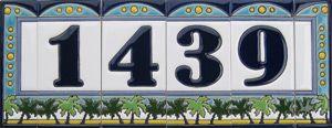 Palm Tree Ceramic Tile Numbers