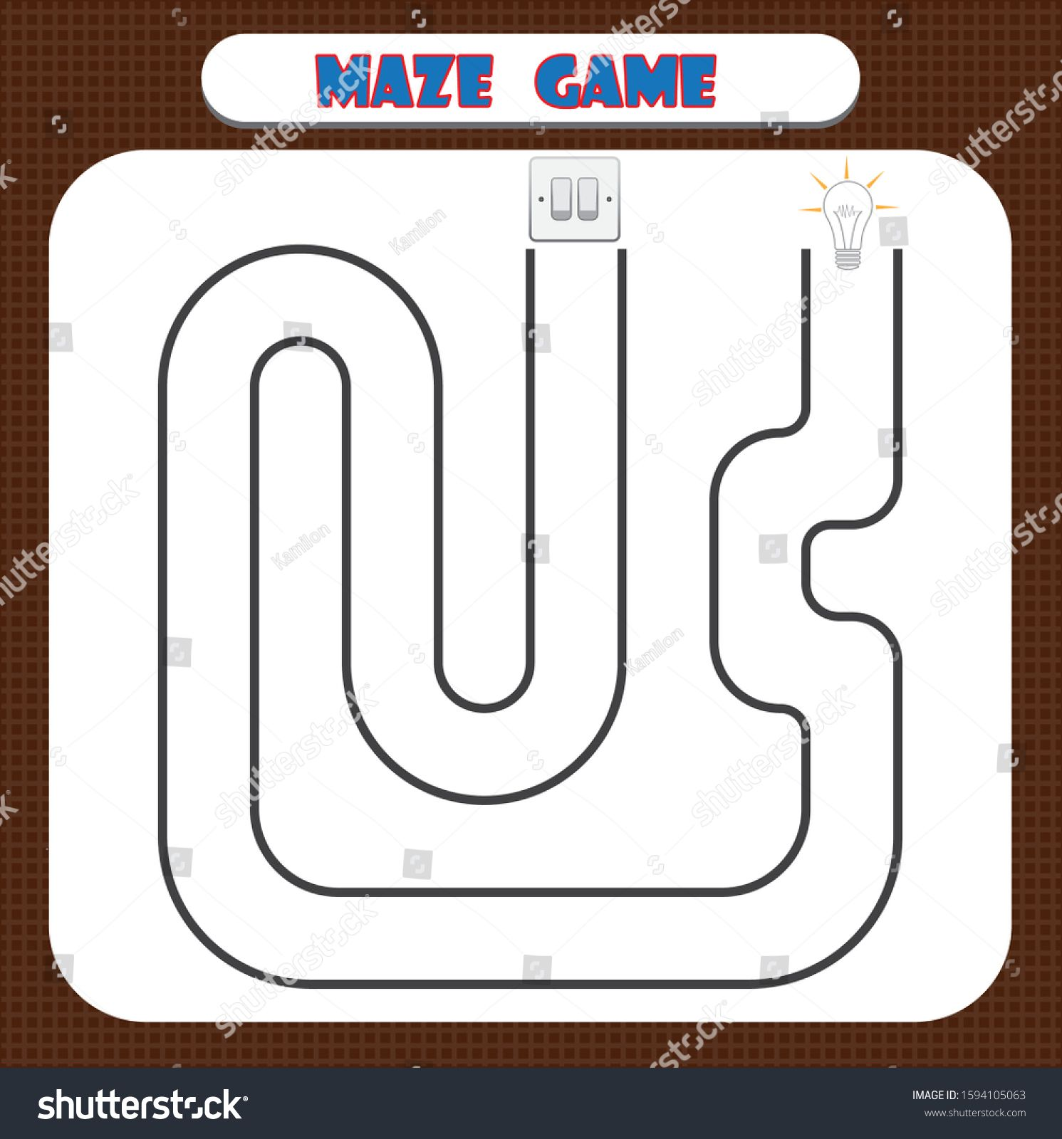 Maze Game For Kindergarten Children Education Developing