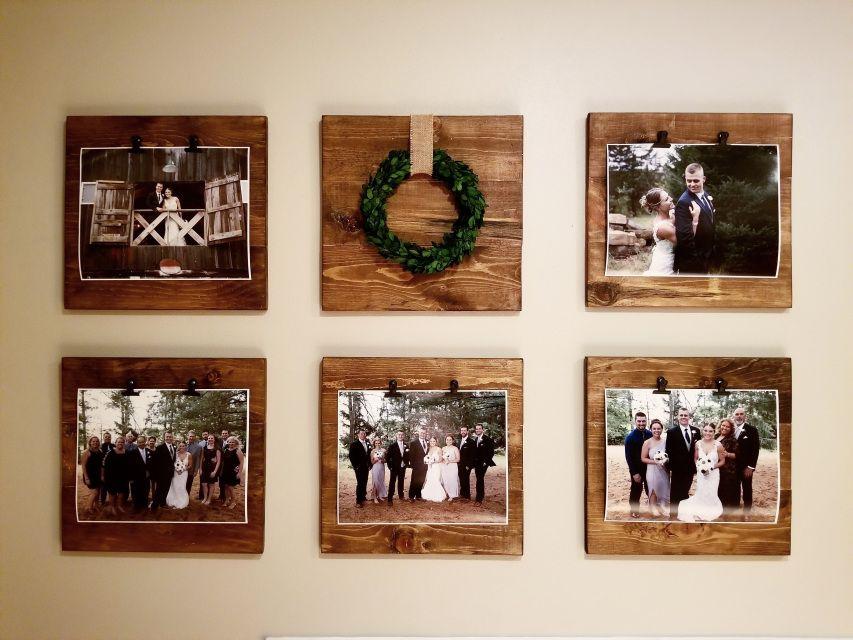 Faux Shiplap Farmhouse Frame #picturewallideas