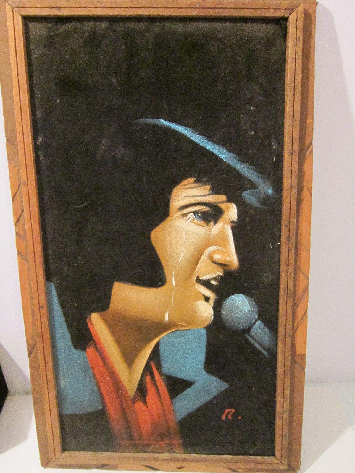 Elvis Presley Vintage Mug Shots Of Famous People/celebrity ...  |1977 Elvis Painting