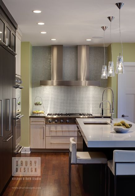 Sublime Contemporary Kitchen Design With Long Pendant Light Divine Classy Long Kitchen Design
