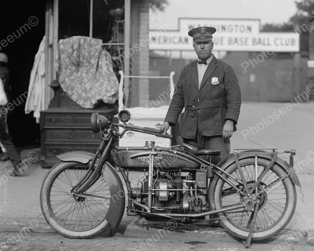 Henderson police motorcycle 1922 vintage 8x10 reprint of old photo ebay