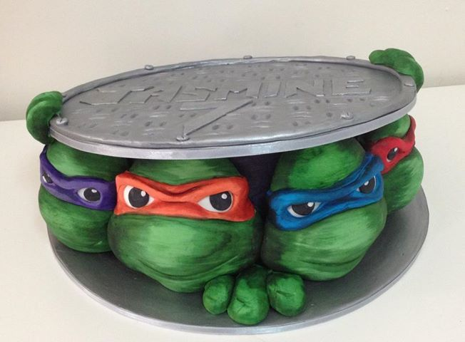 Cake Topper Gingerbread Decorations Tmnt Party Ninja Turtle Party