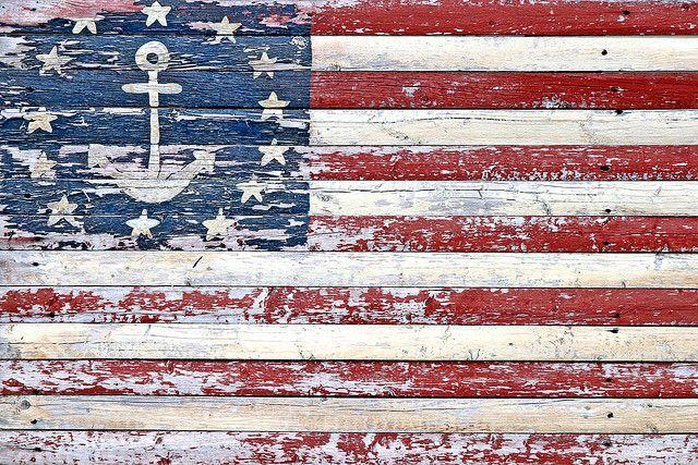 Wooden Flag Wooden Flag Americana Flag