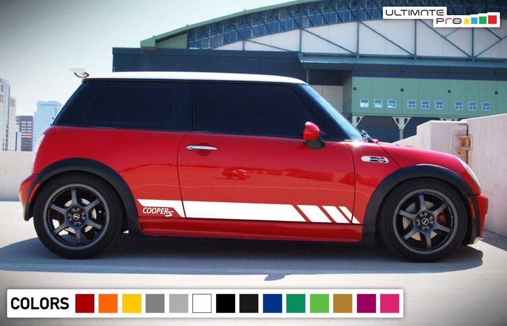 Sticker Decal Vinyl Side Door Stripes for Mini Cooper S Hatch Racing JCW Mirror