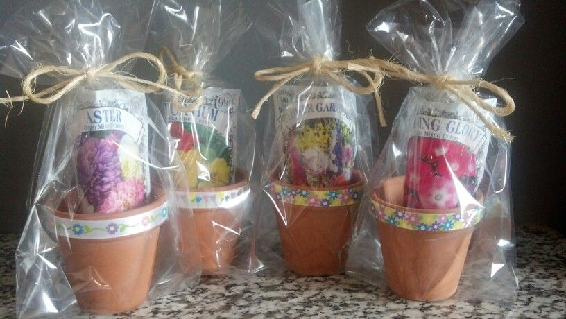 Pinterest & Mini flower pot favors for our guests. | Misty\u0027s Shower in 2019 ...