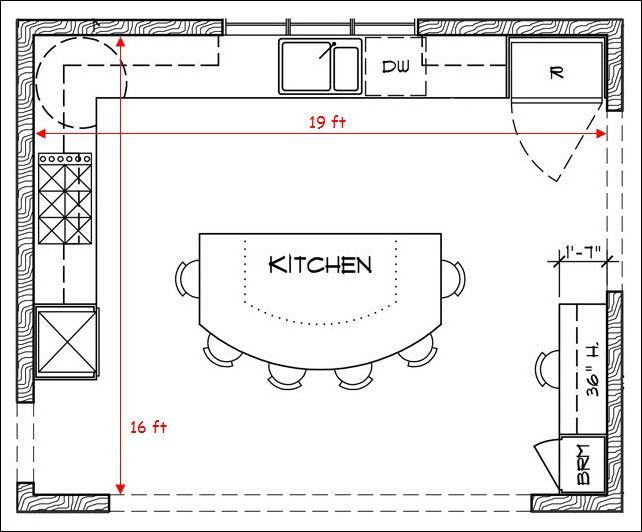 Kitchen floor plans yahoo image search results for U shaped kitchen floor plans