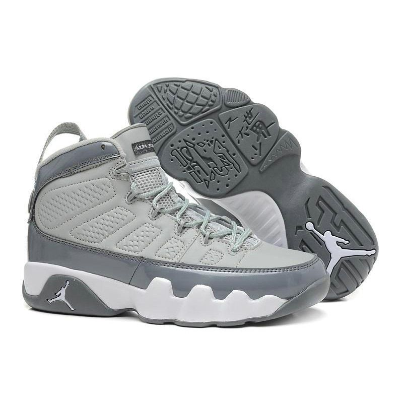 9bd68f835cc 2018 9 Men Basketball Shoes 2010 RELEASE Cool Grey The Spirit OG Space Jam  High Athletic Outdoor Sport Sneakers 41-46