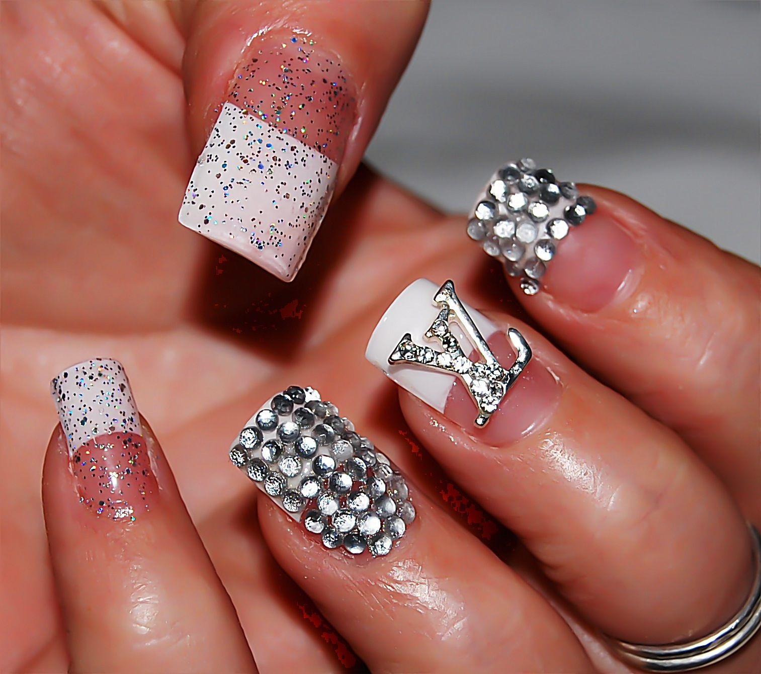Bling Bling Louis Vuitton nail art design | Everything Nails ...