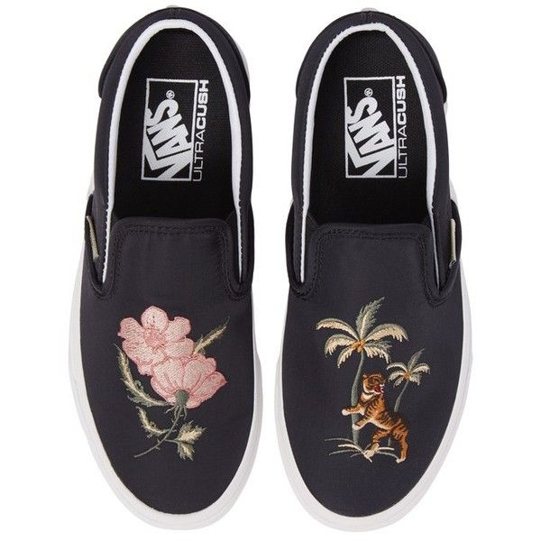 vans classic slip on trainers with print