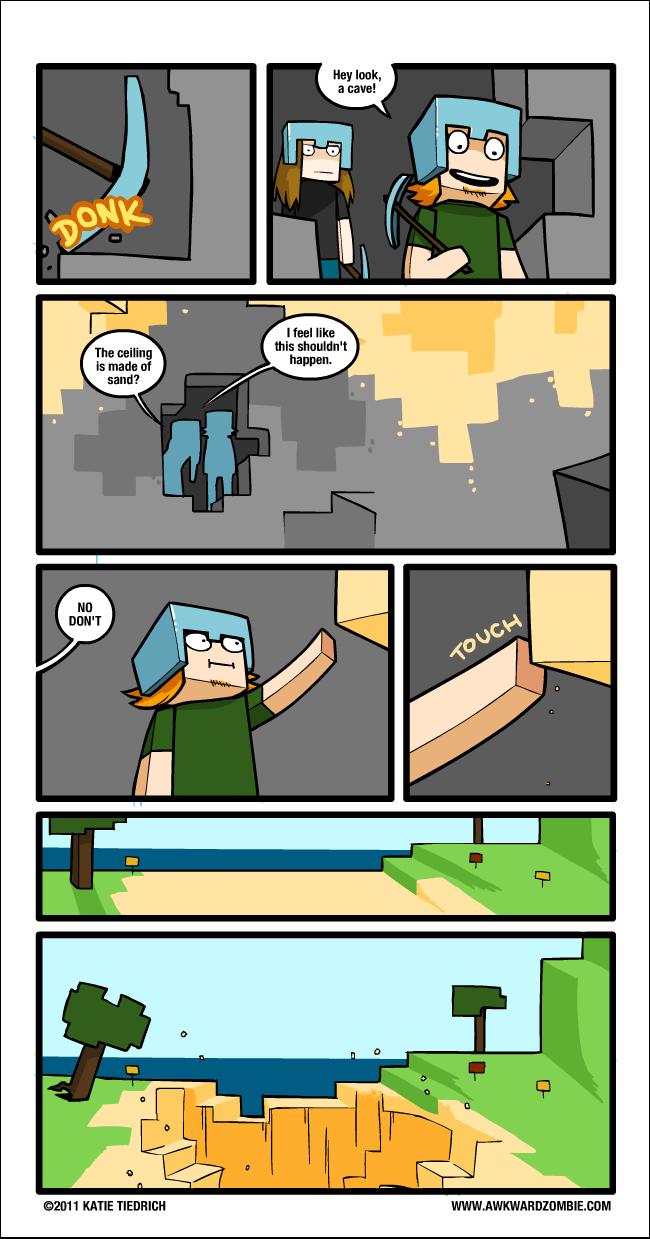 Dabei sieht das immer so lustig aus wenn der sand - Minecraft bilder ...