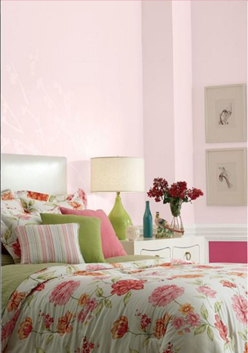 Want To Give Your Room A Garden Inspired Touch This Behr Paint Color Palette Has Soft Light Pinks And Bright Hot That Are Perfectly Balanced With
