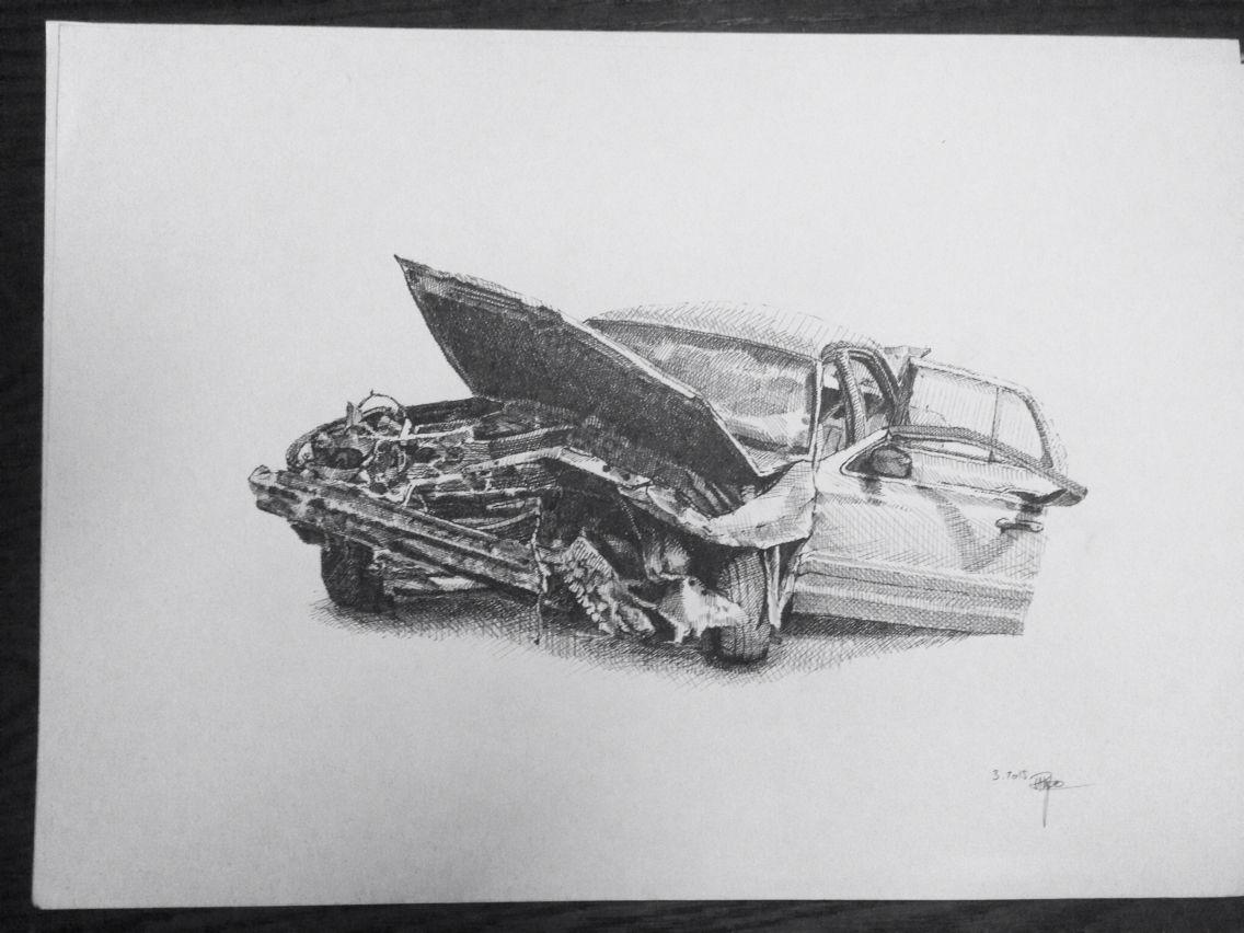Nice Car Crash Drawing Pictures Inspiration - Electrical Circuit ...