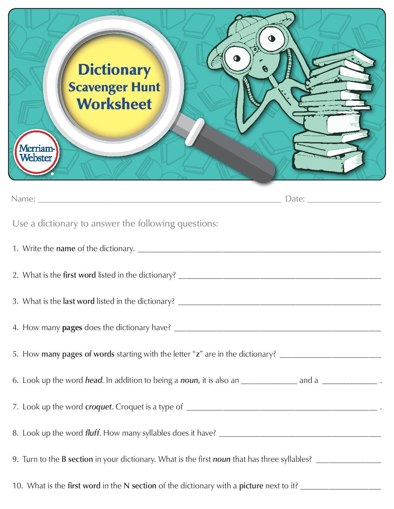 Dictionary Scavenger Hunt Dictionary Activities Scavenger Hunt School Scavenger Hunt [ 1650 x 1275 Pixel ]