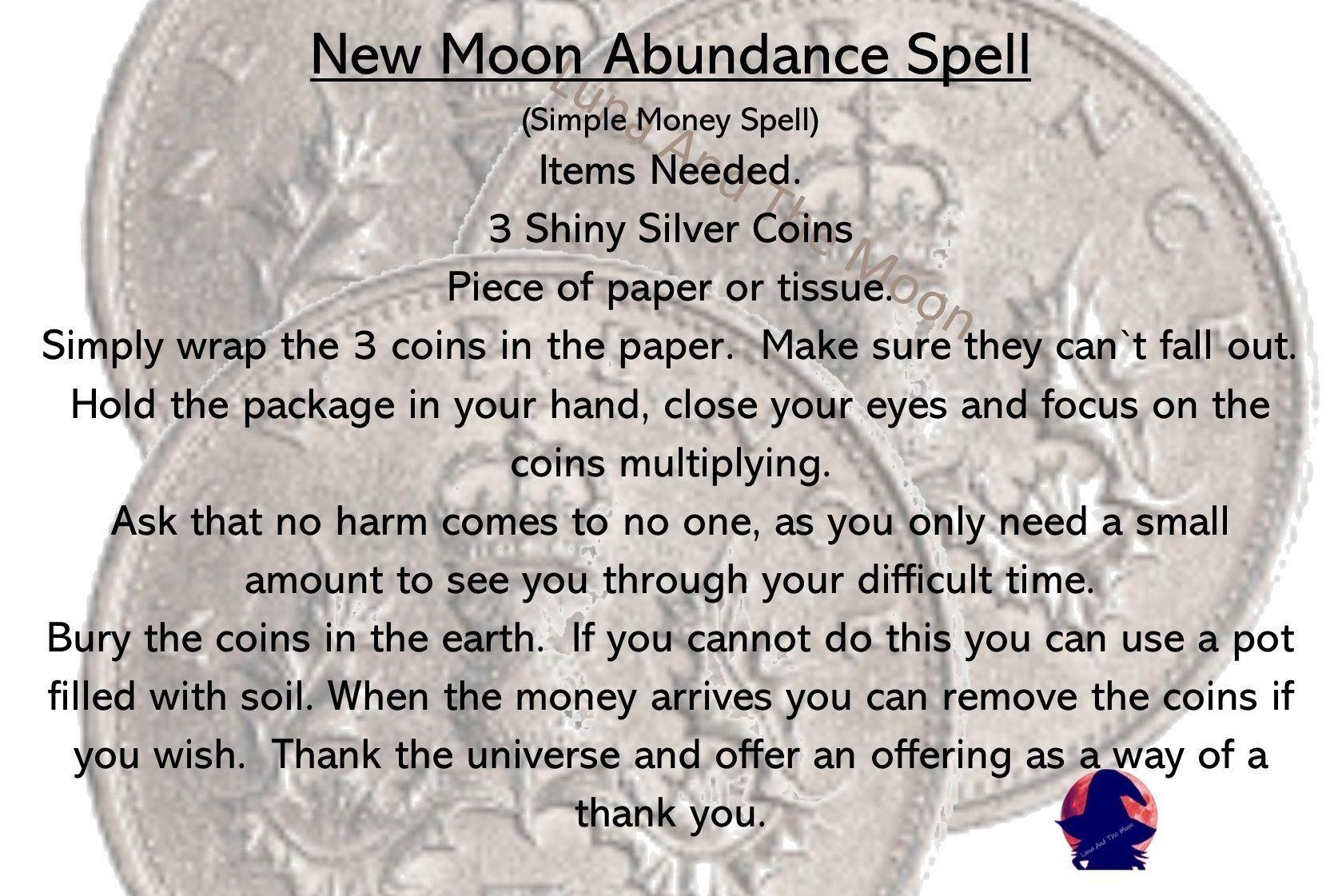 New Moon Abundance Spell. Simple Money Spell. #moneyspell New Moon Abundance Spell. Simple Money Spell. #moneyspells New Moon Abundance Spell. Simple Money Spell. #moneyspell New Moon Abundance Spell. Simple Money Spell. #moneyspells