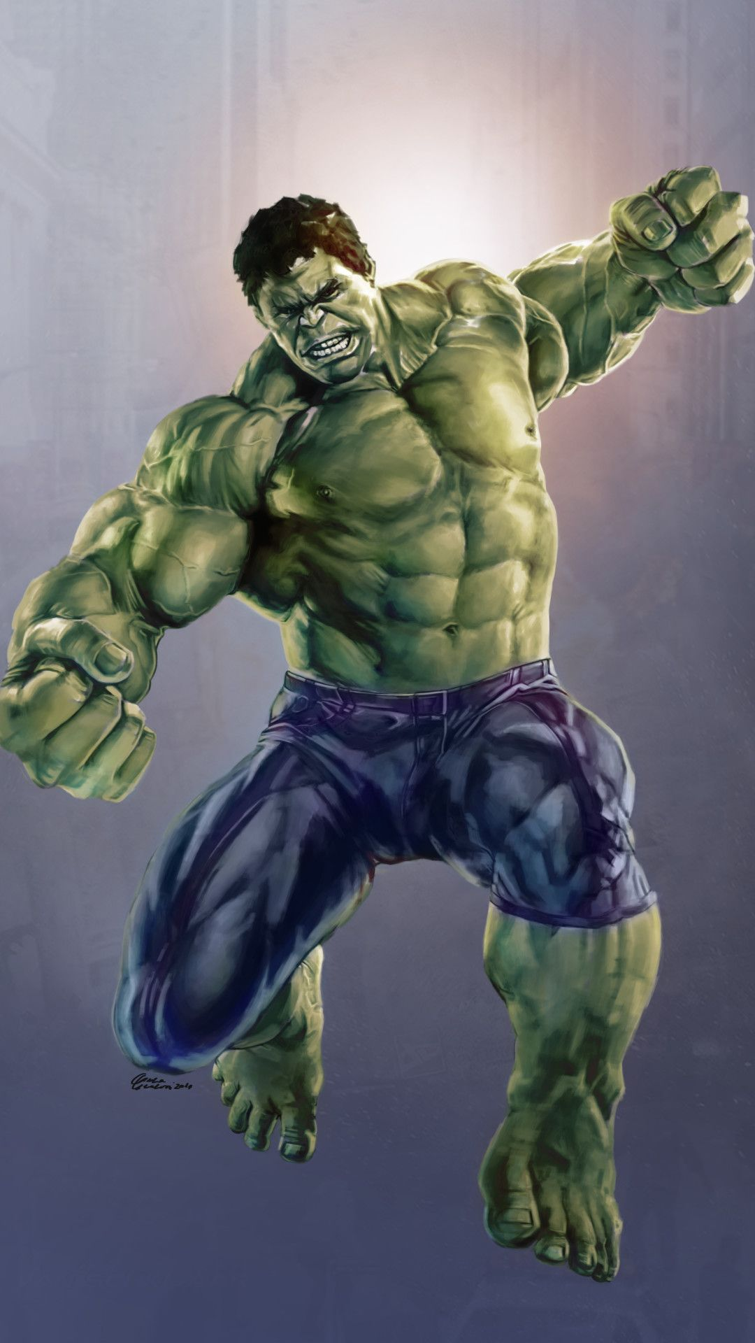 Incredible Hulk Avengers Mobile Wallpaper (iPhone, Android