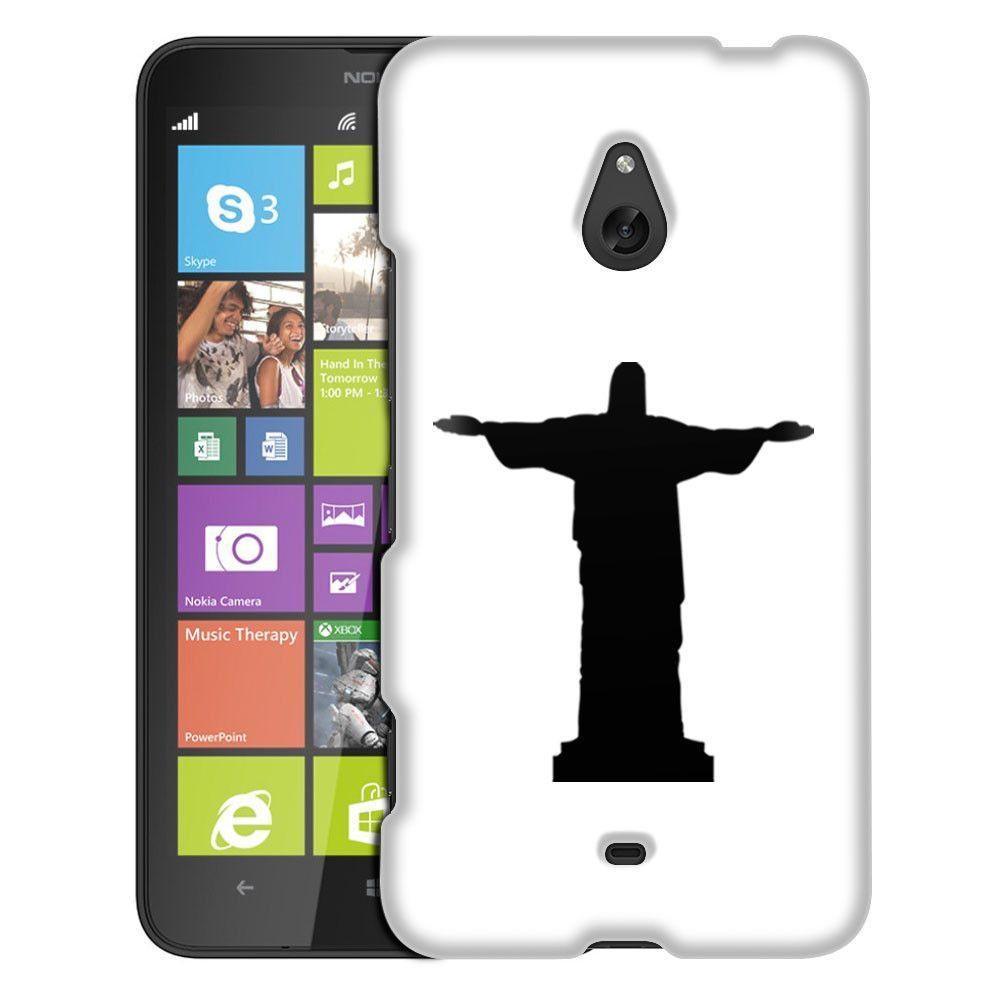 Nokia Lumia 1320 Silhouette Christ the Redeemer Brazil on White Slim Case