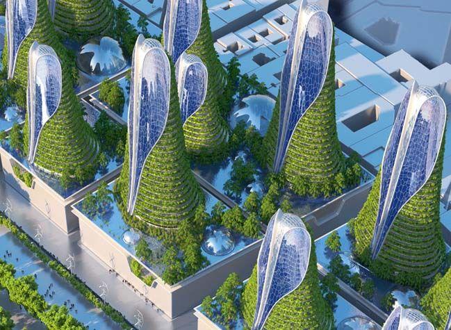 Vincent callebaut devises smart towers for the future of paris