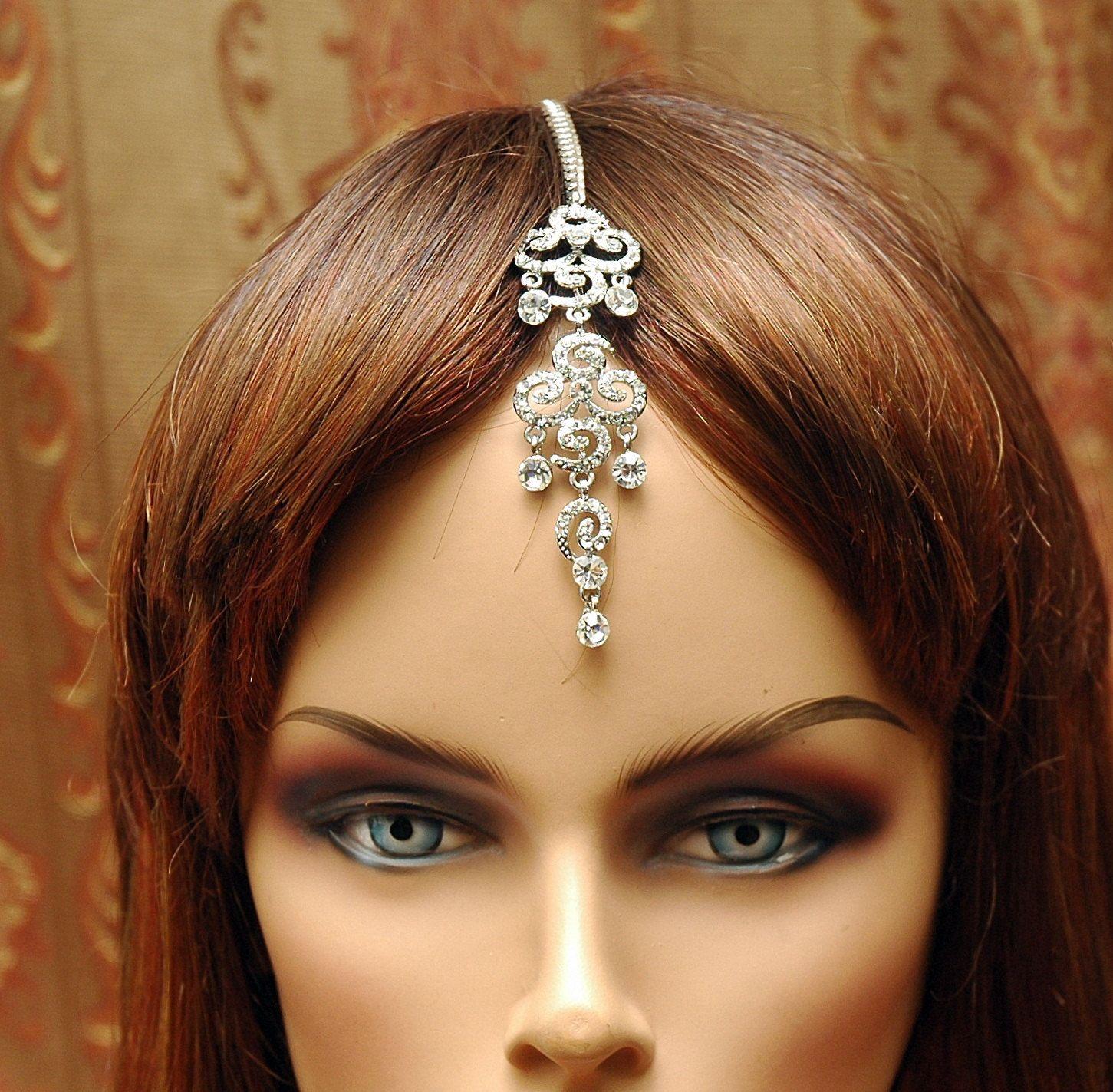 Indian Wedding Headdress: Bollywood Indian Jewelry, Indian Jewelry, Bridal Headpiece