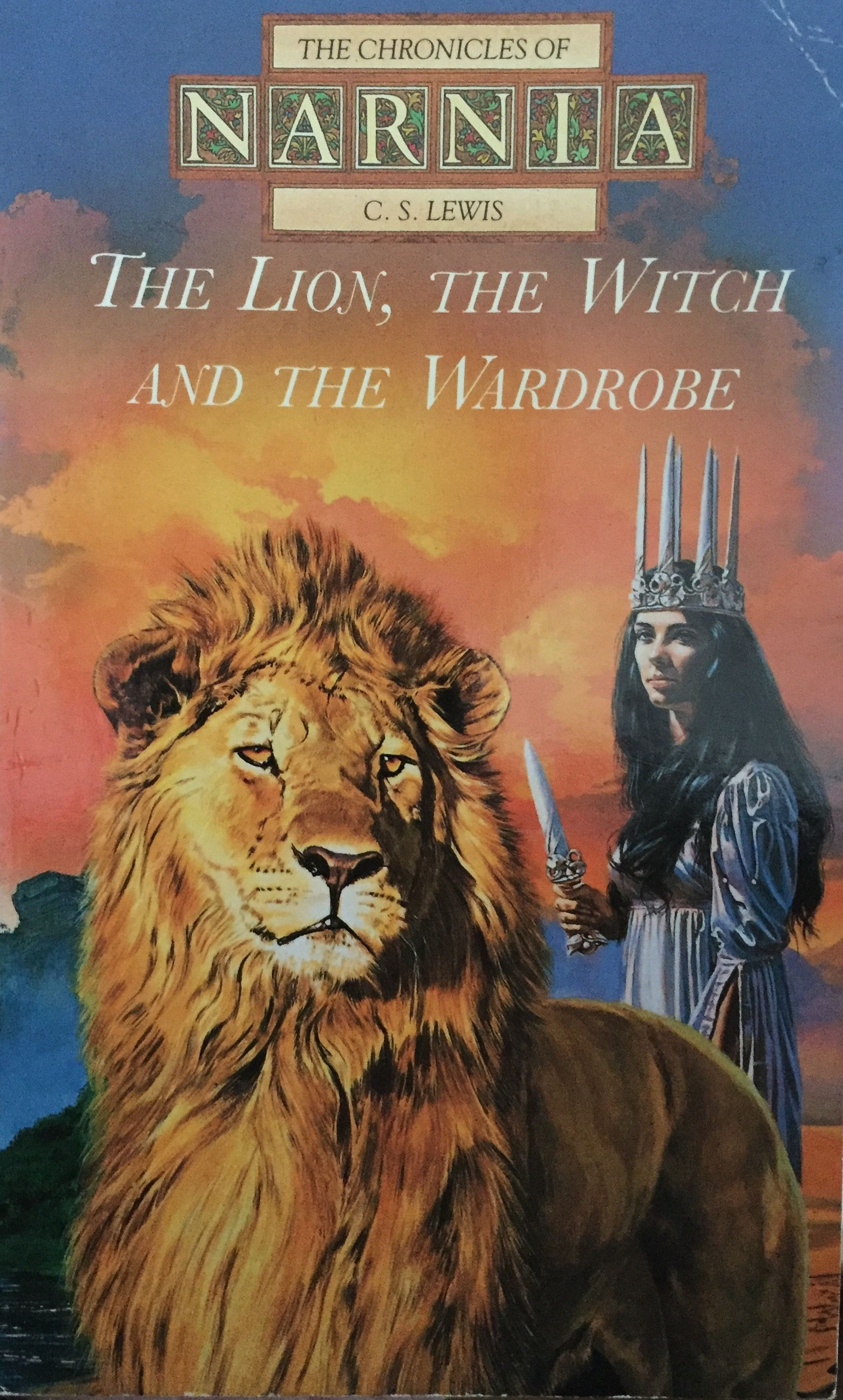 Beautifully Illustrated Book Jacket For The Lion The Witch The