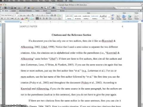 Guidelines For Formatting InLine Citations In Apa  Educ