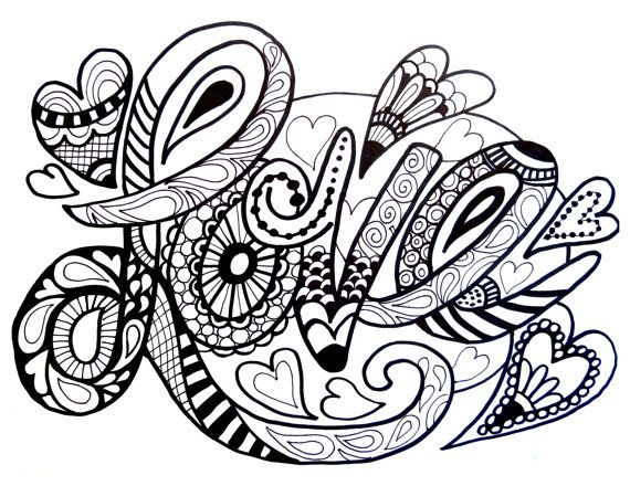 love tangle : adult coloring book zentangle inspired by