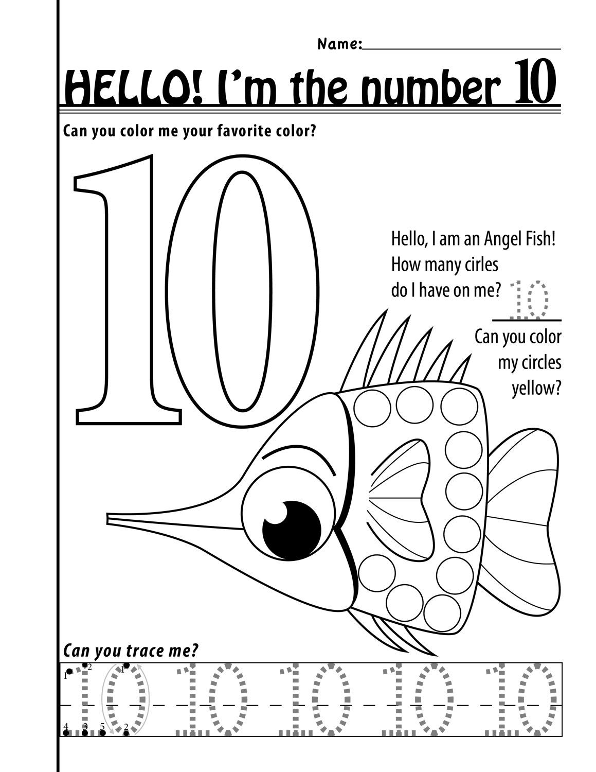 Number 10 Worksheets 11 Pages By Designsbylizperkins On