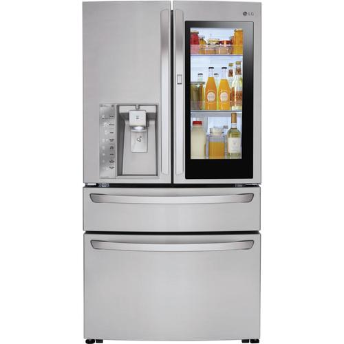 Lowes Jan 3 Lg Smartthinq Instaview 29 7 Cu Ft 4 Doo Stainless