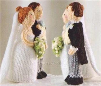 Free Alan Dart Knitting Patterns : KNITTING PATTERN BRIDE AND GROOM FREE KNITTING PATTERNS knitting Pinter...