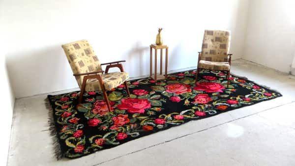 3,28x1,64m 1076x538ft,Tapis kilim,vintage rose rug,black rug,large