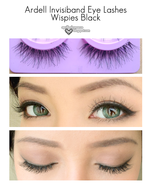206266376e1 April Fool Romance: Review: Ardell Invisiband Eye Lashes Wispies Black