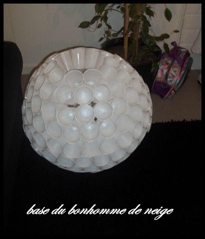 Bonhomme De Neige Avec Des Gobelets En Plastique Cidi Et Le