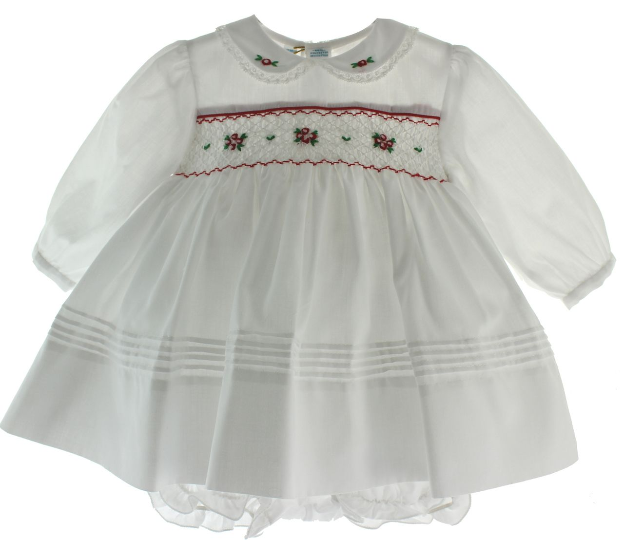 Hiccups Childrens Boutique - Infant Girls Long Sleeve White ...