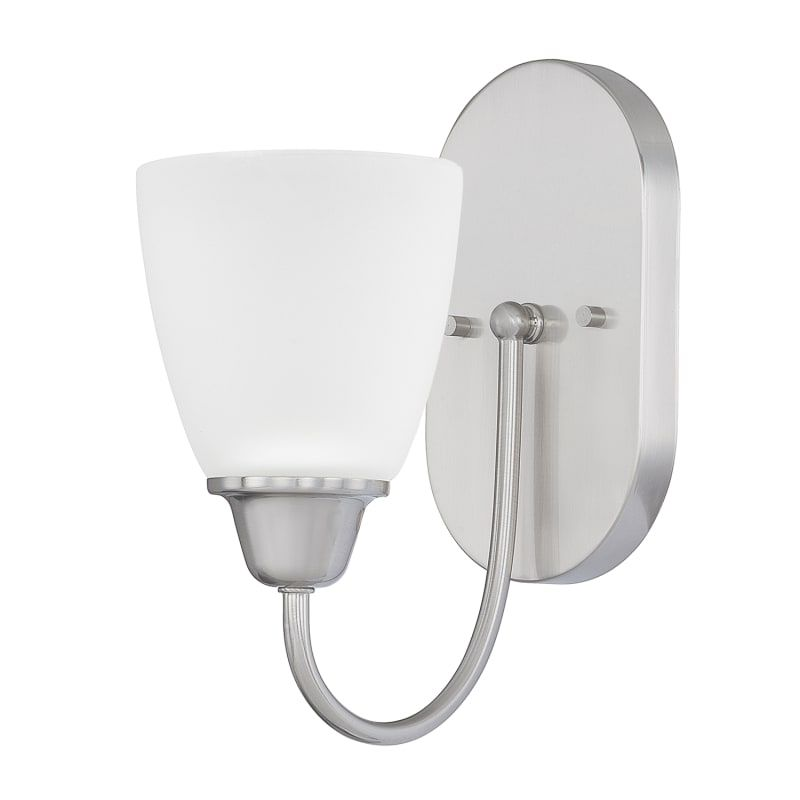 Photo of Capital Lighting 615111-337 Trenton Single Light Bathroom Light Brushed Nickel Indoor Lighting Bathroom Lights Bathroom Light