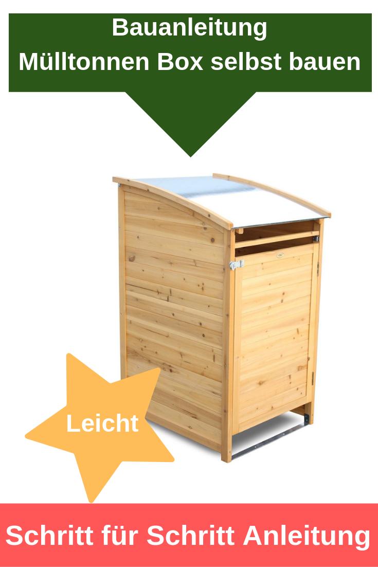 Bauanleitung: Mülltonnenbox selbst bauen