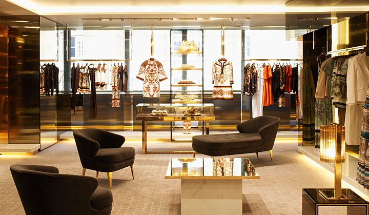 Fashion gucci store and showroom Interior design stores london
