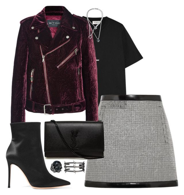 """""""Untitled #1642"""" by malurodz ❤ liked on Polyvore featuring Yves Saint Laurent, Philosophy di Lorenzo Serafini, Etro, Alexander McQueen, Fallon, Maison Margiela and Gianvito Rossi"""